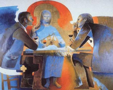 Arcabas - Les disciples d'Emmaüs