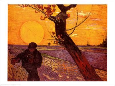 Vincent Van Gogh - Semeur au soleil couchant