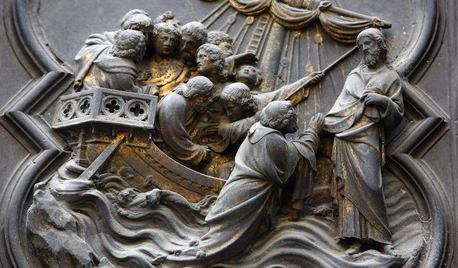 Baptistry of San Giovanni. Jésus marchant sur l'eau